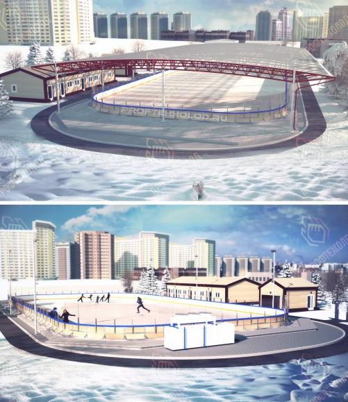Строительство и монтаж ледовых катков